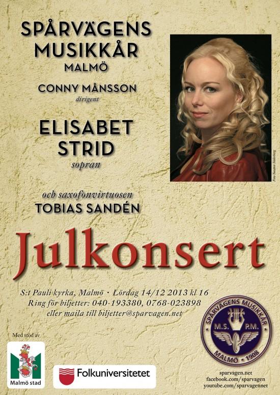Julkonsert 2013 affisch